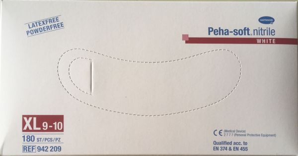 Peha Soft nitrile white puderfrei unsteril Gr. XL 180 St.